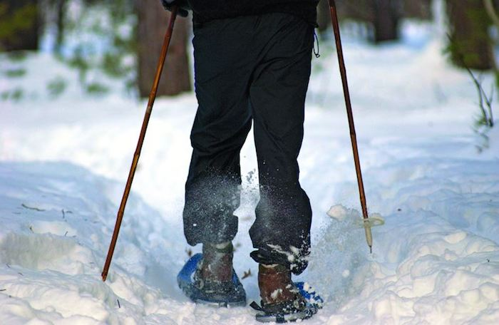Snowshoeing is great exercise